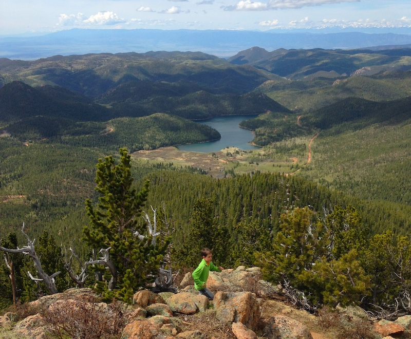 View from Mt Rosa in North Cheyenne Cañon.
