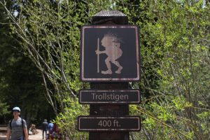 Trollstigen Trailhead sign