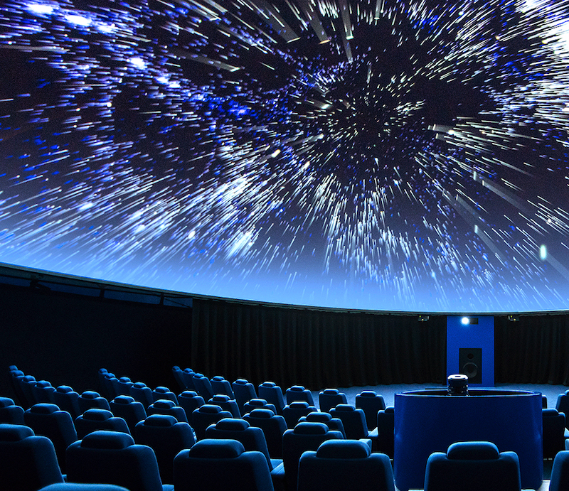 A spectacular fulldome digital projection at the planetarium