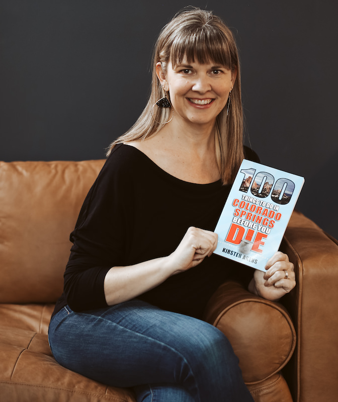 kirsten akens and 100 things to do in colorado springs book