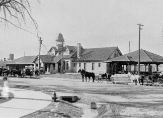 Haunted Colorado Springs, historic train depot with apparition added