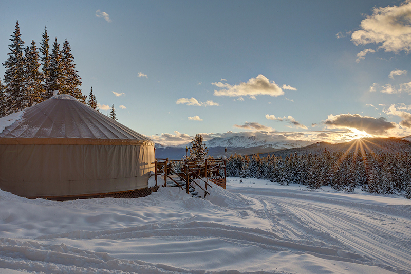 Gift experiences, snowshoe to dinner at Tennessee Pass Nordic Center, Cookhouse & Sleep Yurts