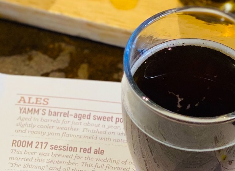weird beer of Colorado Springs, Yamm's Whiskey Barrel Aged Sweet Potato Ale at Phantom Canyon