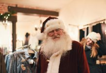 local holiday shopping with Santa in downtown Colorado Springs