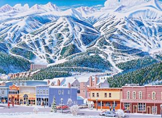 James Niehues Breckenridge town and slopes map