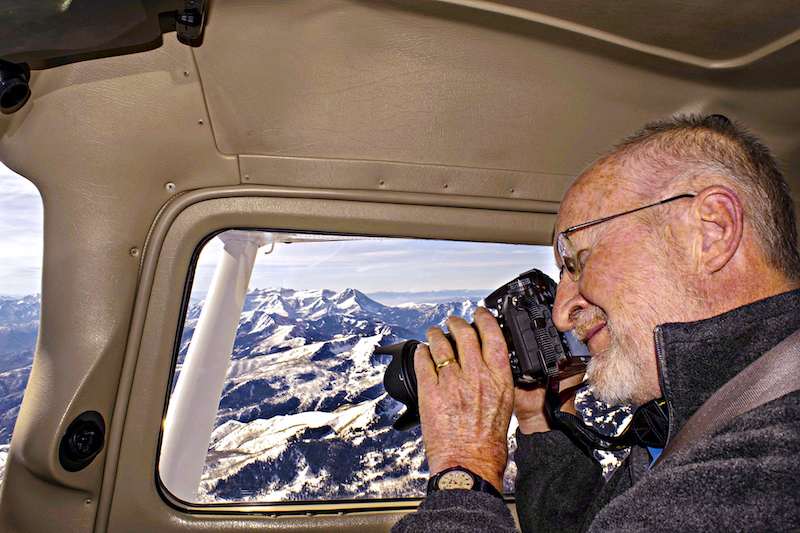 James Niehues observes a ski mountain from above
