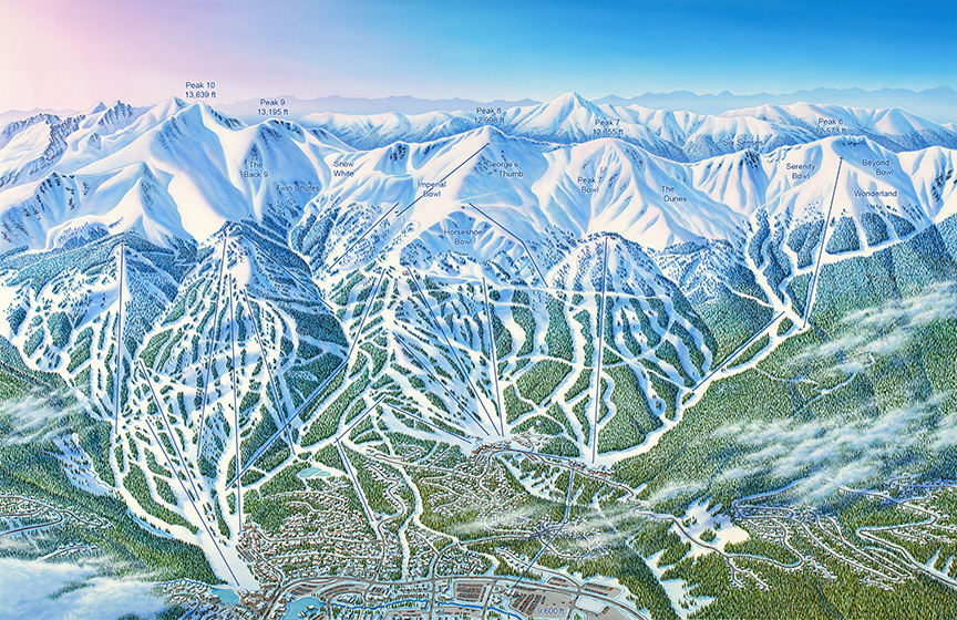James Niehues is the man behind many ski area maps around the world