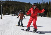Snowboard lessons at Copper Mountain