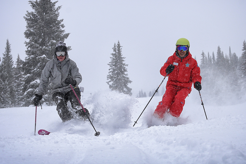 Ski lessons at Copper Mountain