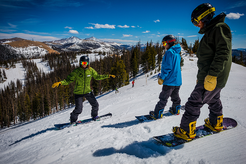 Snowboarding lessons at Monarch Mountain
