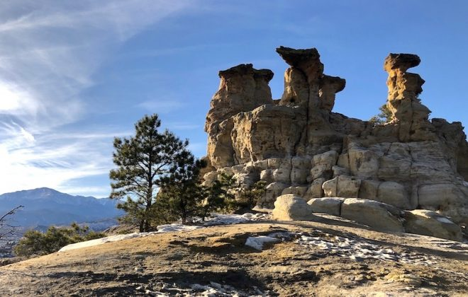 Pulpit Rock and Pikes Peak in Colorado Springs