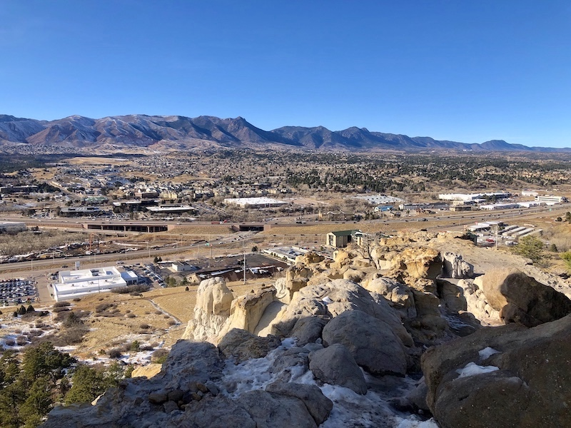 Front Range seen from Pulpit Rock in Colorado Springs