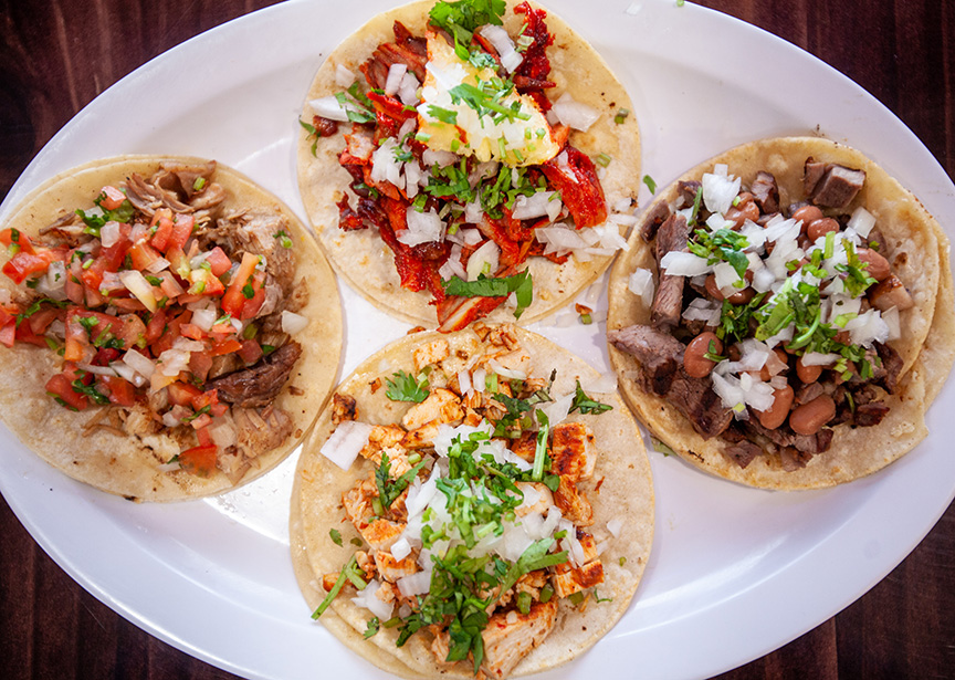 Ethnic cuisine tacos from Zapata Mexican Taco Shop in Colorado Springs