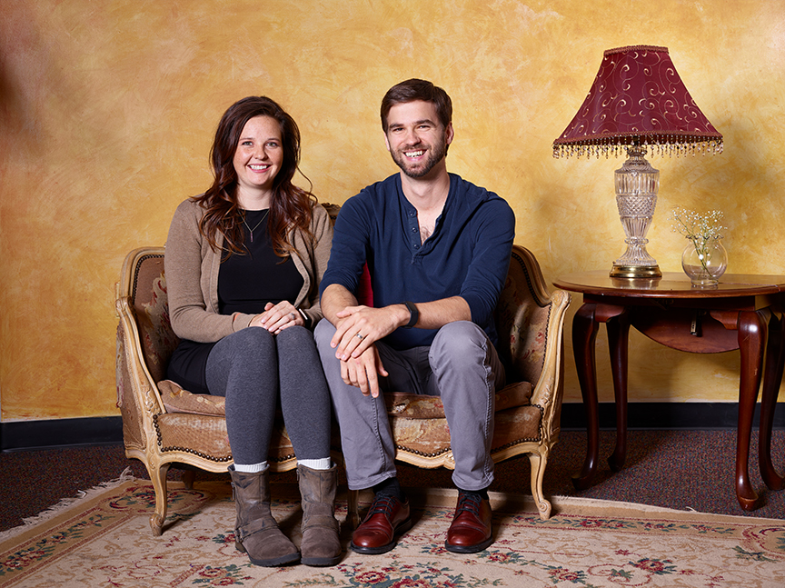 Megan Michelle and Joe O'Rear are one Colorado Springs couple that share the theater stage