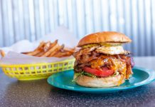 Green Line Grill's Deluxe Burger and fries