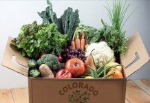 Grocery delivery box from Farm to Fork Colorado