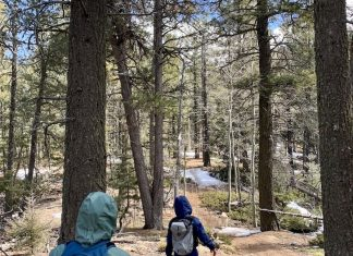 Social distancing hiking on Colorado Springs trails