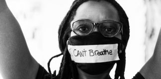 I can't breathe mask at Black Lives Matter protests in Colorado Springs