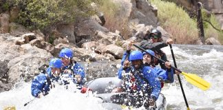 Whitewater rafting Browns Canyon on the Arkansas River