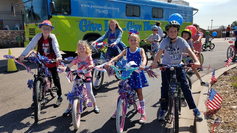 4th of July bike parade at Falcon Freedom Days