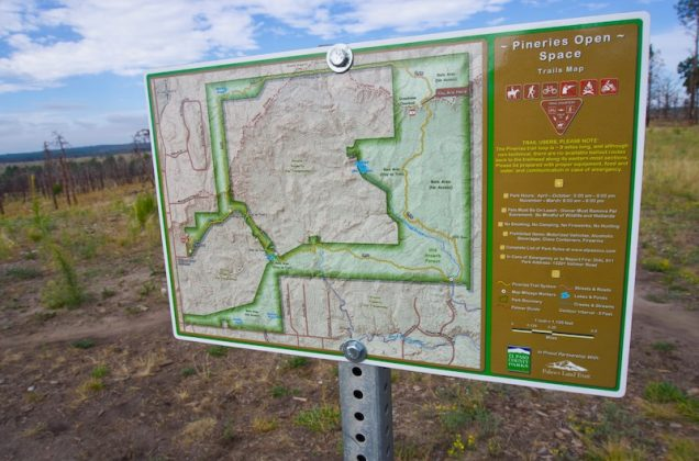 Trail map in Pineries Open Space