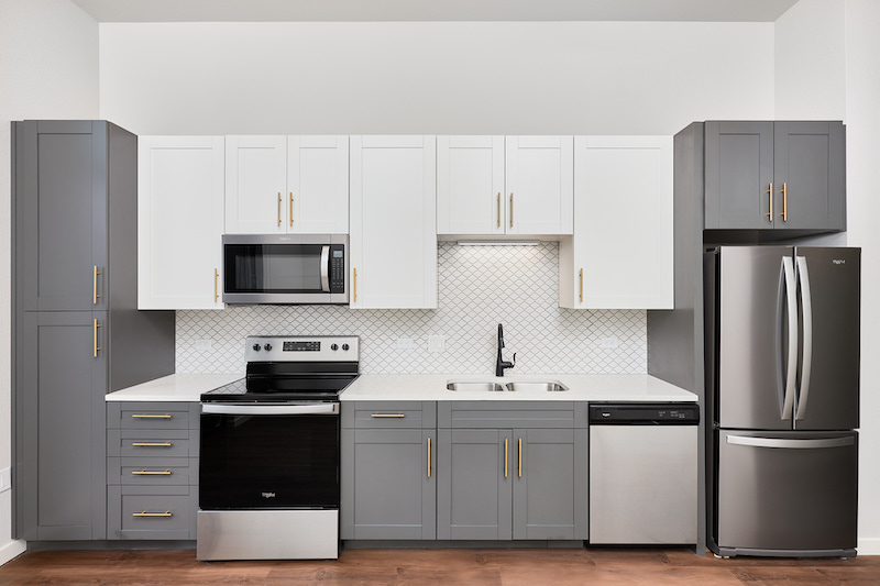 Kitchen in The Mae at Cascade apartment
