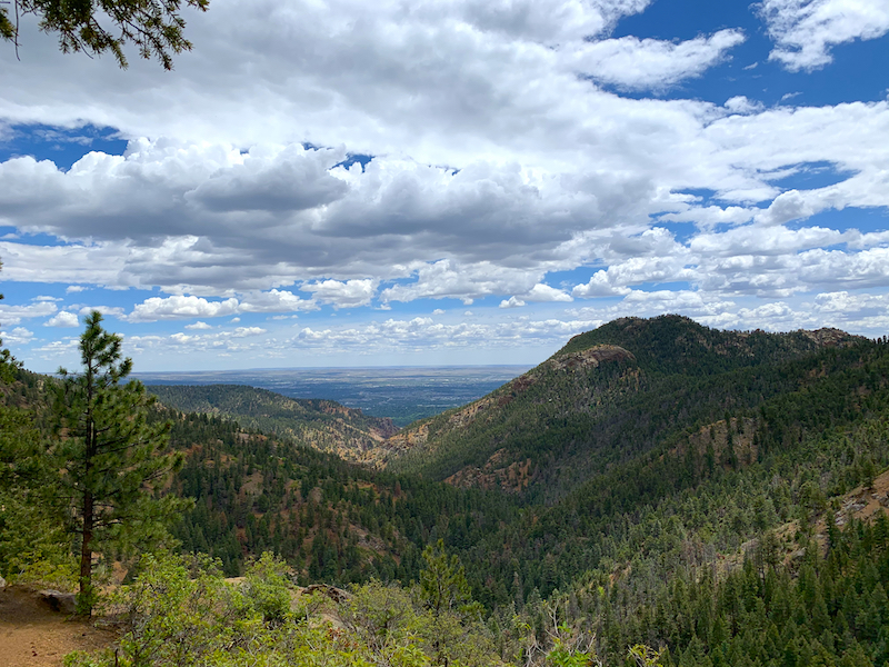 Views of Colorado Springs from the overlook along the St. Mary's Trail