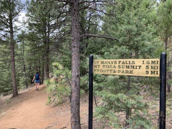 St. Mary's Falls trail sign