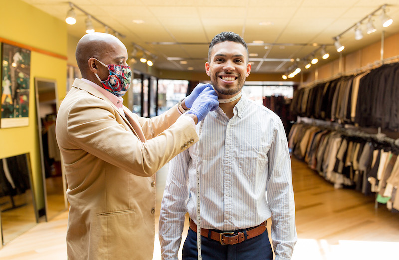 Style fitting gift experience at the Men's Exchange