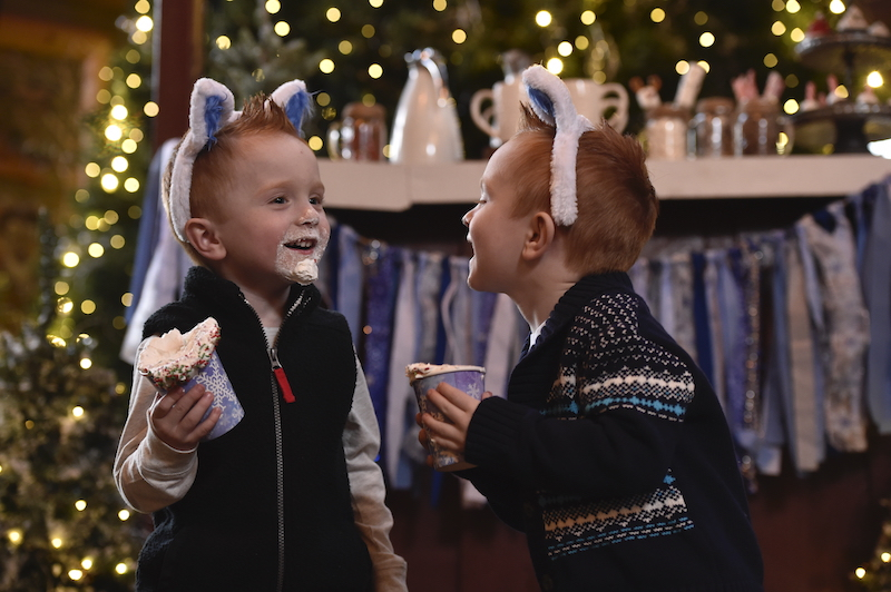 Holiday cocoa and whip cream at Great Wolf Lodge