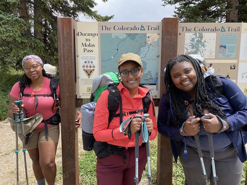 Patricia Cameron and fellow black women who backpacked for the first time near Silverton