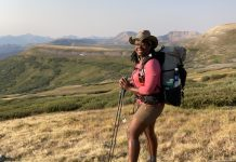 Patricia Cameron, aka Blackpacker, thru-hiking the Colorado Trail
