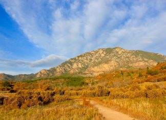 Cheyenne Mountain State Park offers some of the best trails in Colorado Springs, shown here beneath the namesake mountain.