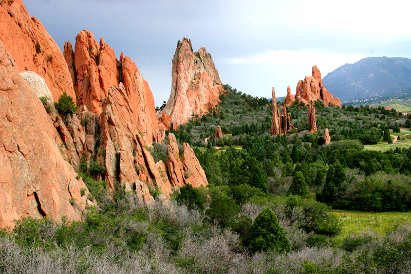 Iconic rock formations of Garden of the Gods