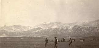 Early survey of Colorado Springs, circa 1871. The city celebrates its 150th birthday in 2021.