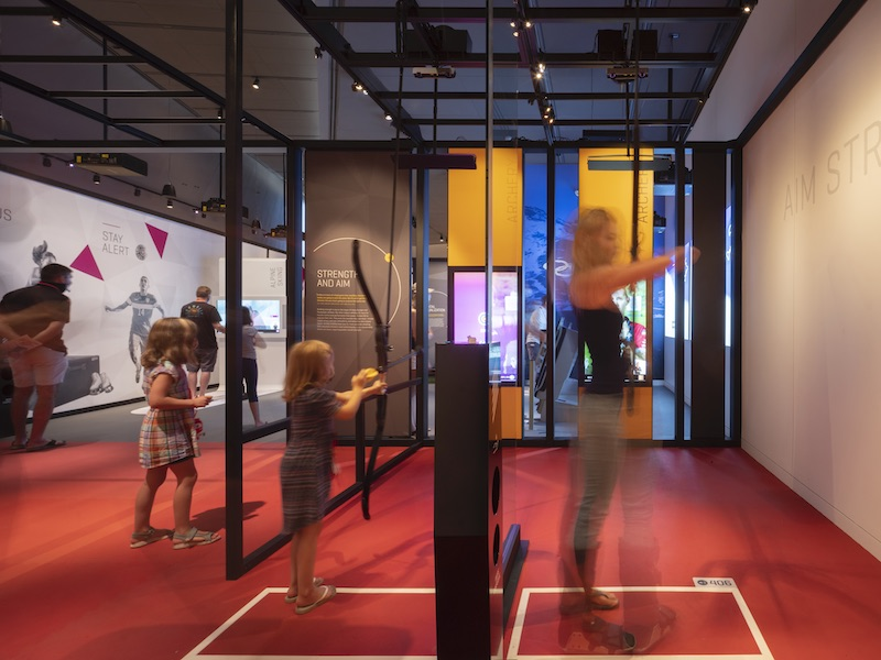 interactive archery at the U.S. Olympic and Paralympic Museum