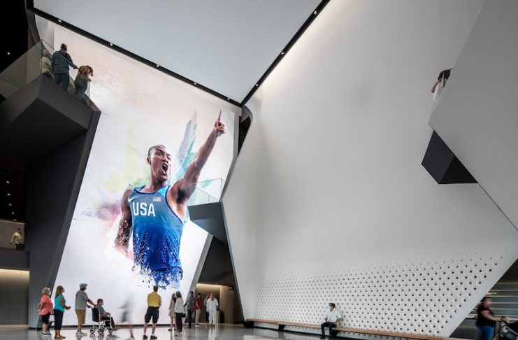 Inside the Atrium at the U.S. Olympic and Paralympic Museum