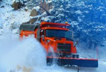 CDOT snowplow at work