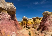 Sunny day at the Paint Mines Interpretive Park