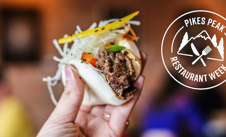 Taco and logo for Pikes Peak Restaurant Week