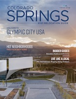 U.S. Olympic & Paralympic Museum and Pikes Peak grace the cover of Colorado Springs Relocation Guide 2021