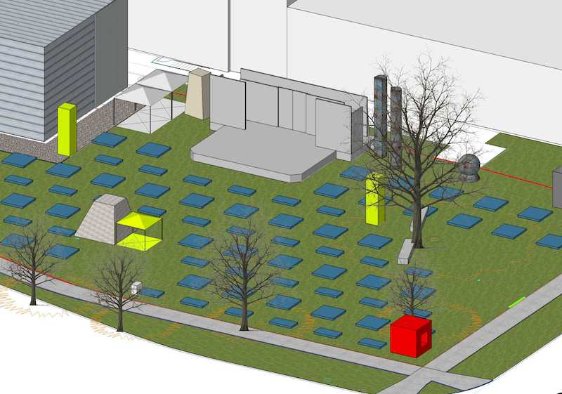 Fine Arts Center new outdoor stage rendering