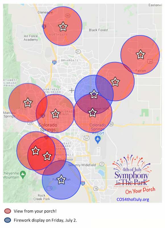 Symphony on Your Porch Map