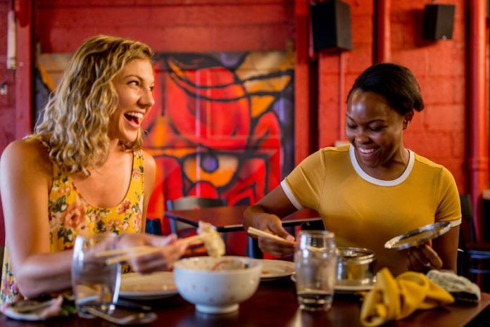 women eat and drink at Chiba Bar in Colorado Springs