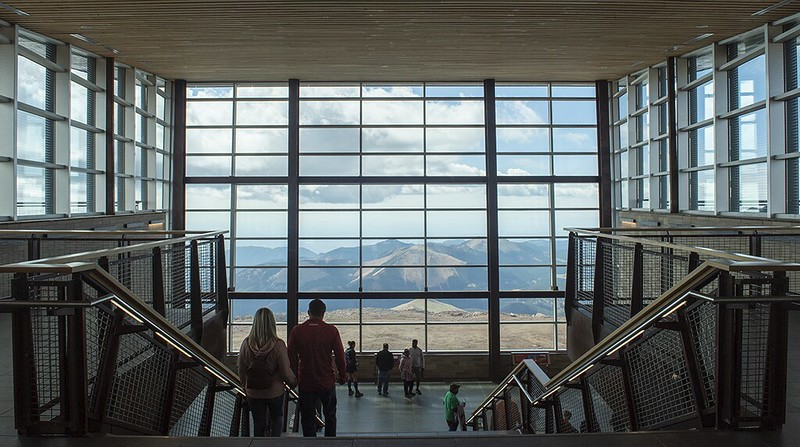 View from windows of Pikes Peak Summit House