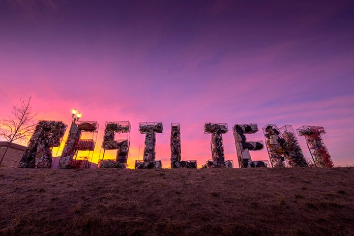 Arts Month Litter Letter project from 2020