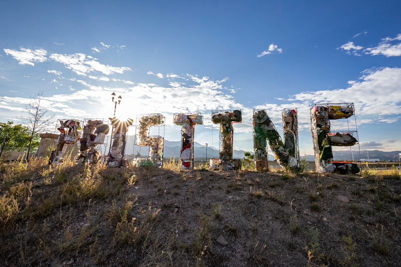 Litter Letter Project spells PRISTINE for Arts Month 2019 in Colorado Springs